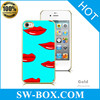Sexy red lips design case for iphone 4 case for various mobile phone