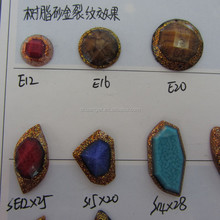 New Arrive Unique Design Special Sew On Resin Rhinestones Fancy Cracking Flatback Resin Beads 2 holes Sewing Buttons