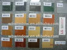 pvc window and door with color profile