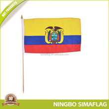 Fully stocked factory directly world flag swing flag hand held promotional flags