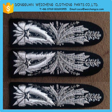 Military Hand Embroidery Gold and Silver Bullion Wire Badges for Wallet/hand Embroidered for garment