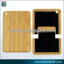 flannelette inside bamboo hard cell phone case for ipad mini