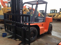 7 ton used forklift,FD70 original Japan cheap price toyota used forklift