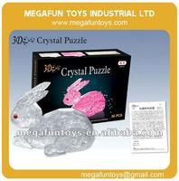 56pcs Crystal Puzzle Series Rabbit Shaped 3D Puzzle