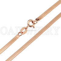 925 sterling silver necklace chain, high quality Chopin chain with gold plated