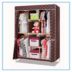 wood frame and oxford cloth cover foldable garderobe