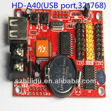 Small Asynchronously USB port led display control card HD A40
