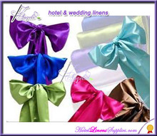 wedding chair sashes, satin sashes for special events, wedding chair covers