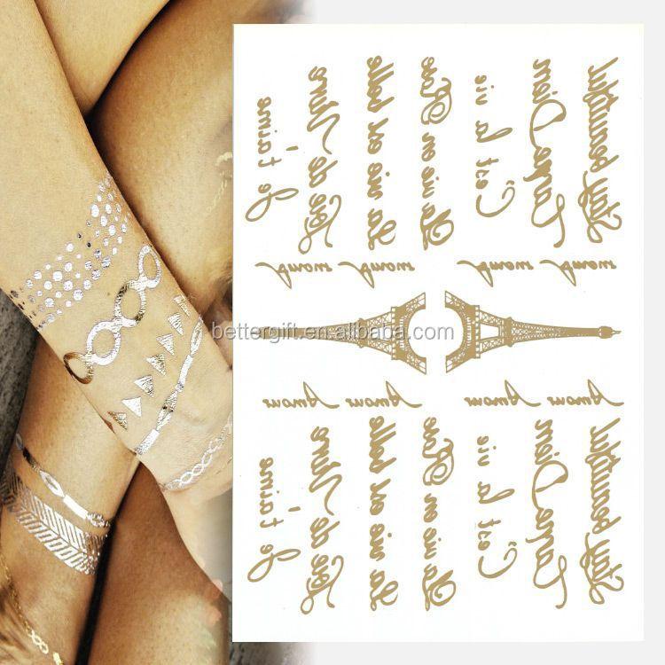 Gold foil flash tattoo permanent tattoo supply pen laser for Gold foil tattoo
