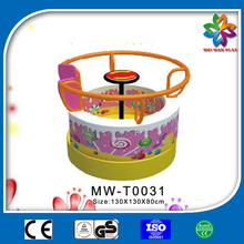 hand operated kids small carousel,kids indoor playground for sale
