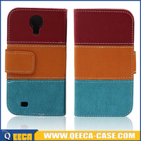 Fancy design mobile phone wallet flip pu leather phone case cover