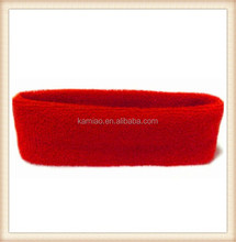 2015 fancy red hair accessories manufacturer men elastic hairband terry cloth headband