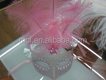 Party beautiful carnival fancy feather masquerade plastic masks MSK197