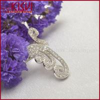 925 purple crystal ring rainbow color rings