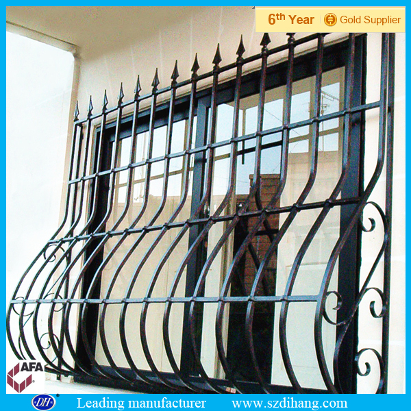 Iron window grill color window grill designs home buy for Exterior window grill design