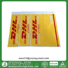 Changeable barcode LDPE courier bag for the document pouch with printing