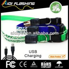 2013 new designed braided leather led dog collars and leashes