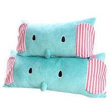 green long pillows plush lovely stuffing cushion for promotion