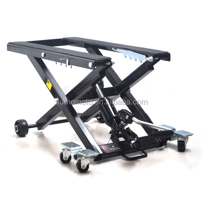Hydraulic Motorcycle Stand : Cruiser mx lift motorcycle scissor stand