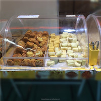 Wholesale retail shop acrylic food display case, acrylic box