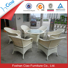 Resin wicker Outdoor Garden Dining table patio furniture used glass table