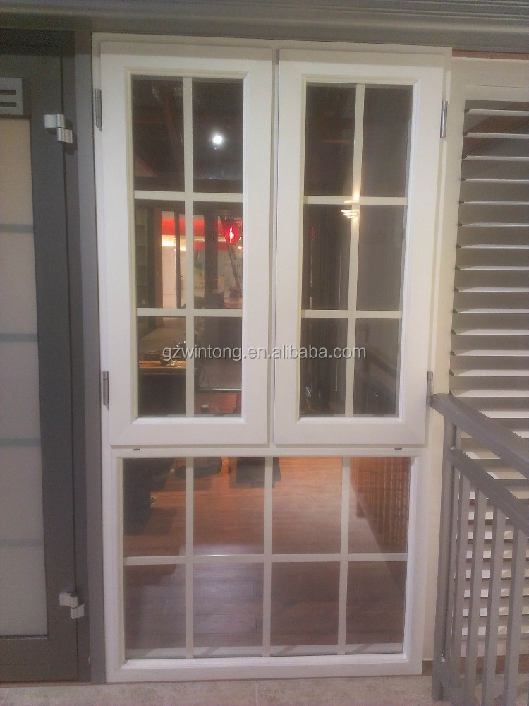 Double glazing aluminium casement window with grill design for Buy casement windows online