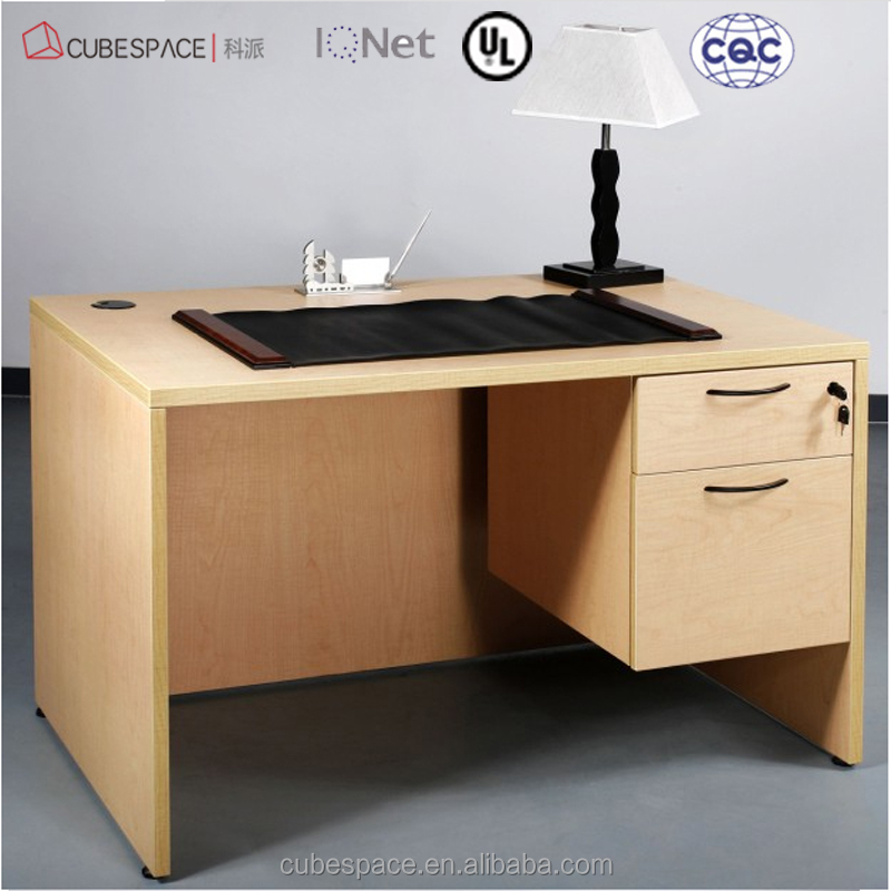 modern standard office desk dimensions drawer lock view