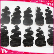 """4""""X4"""" free style 130% 12~24 inch body wave brazillian hair holly wood remy lace closure"""