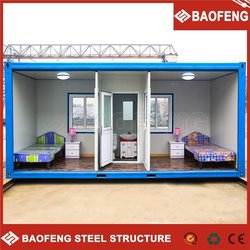 fast build ozone resisting corrosion resistance 20ft steel container house
