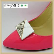 SHBU34167 new style fashion zinc alloy rhinestones metal shoe buckle