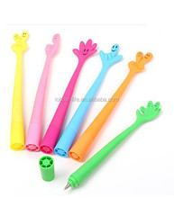 Silicone Ball Pen With Pen Holder, fingers ball pens Wholesale