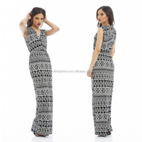 2014 bulk wholesale wrap front printed mommy and me maxi dress