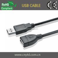 Black color usb 2.0 am to af usb extension cable