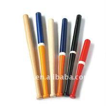 Colorful wooden baseball bat