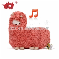 Cheap and good quality plush toy with music box made in china