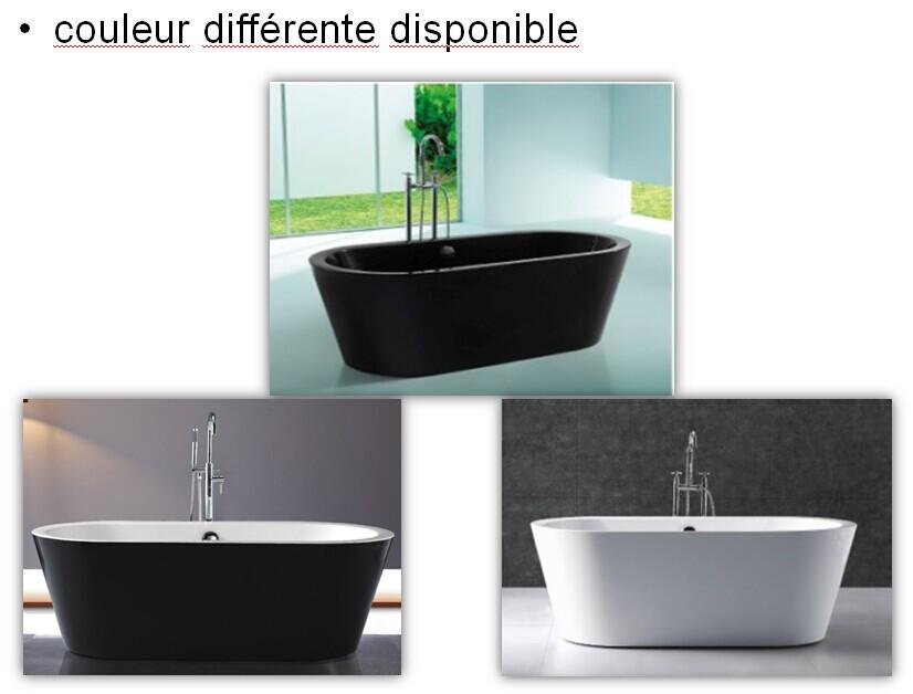 Extrêmement noir baignoire îlot-Baignoire & bains thérapeutiques-ID de produit  DV96