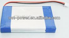7.4V 5000mAh rechargeable lithium polymer battery for GPS, GSM, portable devices