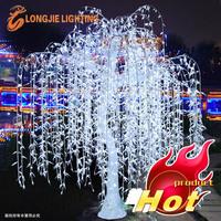 Outdoor waterproof artificial LED weeping Willow Tree lighting/ LED lighted willow tree lights