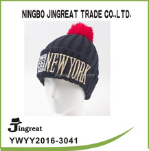 kids winter warm hat knit hats NEW YORK logo Children's knitted hat