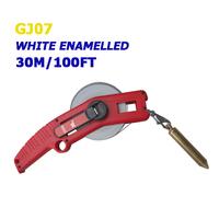 30m/100ft white enamel oil measuring tape