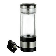12V/24v glass double wall vacuum hot water drink heater/cup/mug/bottle with cigarette lighter