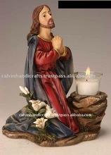 poly resin craft/praying jesus