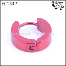 Hoop earring red filled stain;ess stee; ear cuff wholesale