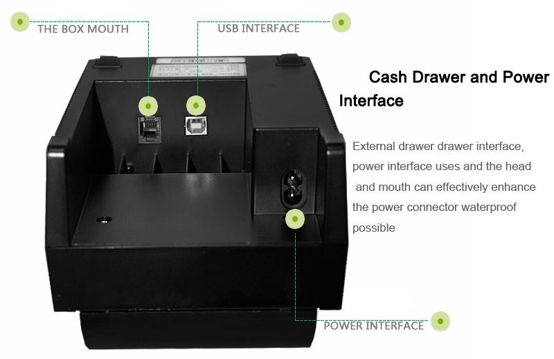 cheap mini 58mm thermal printer driver with USB port