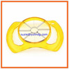 Professional yellow transparent stainless steel apple cutter