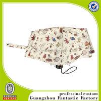 190T fabric hand open ornamental fold umbrella