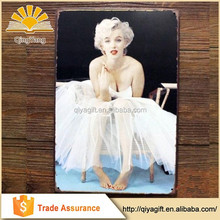 Vintage style Sexy lady open girl Photo vintage Metal Tin Signs