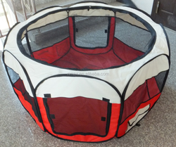 RIMAX Soft Folding Crate Fabric Pet Playpen Cat Puppy dog playpen with dog bed