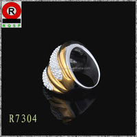 Exaggerated style new products wide and thick design finger ring overspread pearls