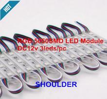 RGB led module 3 5050 SMD led strip light modules Waterproof Light Advertising lamp DC 12V Wholesale